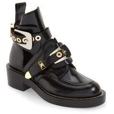 Women's Balenciaga Cutout Buckle Boot