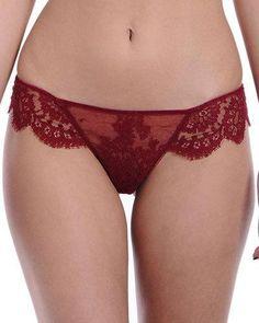 Noir Comme La Robe Lace Panties, Parisian Red