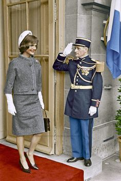 First Lady Jacqueline Kennedy during a State visit in Paris, France. ca. June 1961