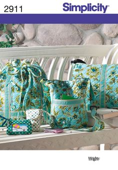 Cloth Bags Pattern Pre-quilted Fabric Bags Pattern by Bag Patterns To Sew, Simplicity Sewing Patterns, Sewing Patterns Free, Free Pattern, Pre Quilted Fabric, Quilted Bag, Quilted Handbags, Backpack Pattern, Fabric Bags