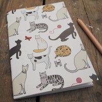 Mary Kilvert stocking filler - Cat Pattern Notebook