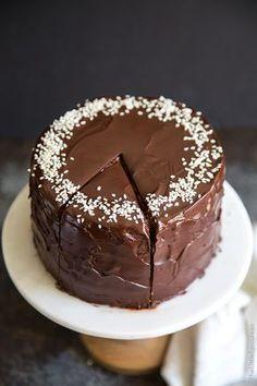 Tahini Chocolate Banana Cake #chocolate #banana #tahini