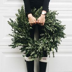 Greenery wreath for the Holidays!