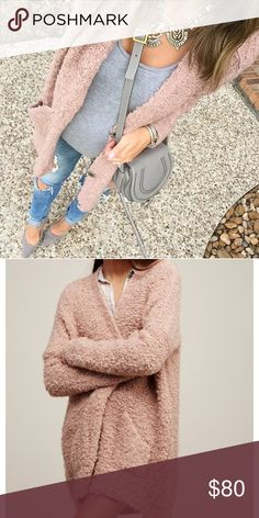 Free people bouclé cardigan Never been worn free people cardigan! Pale pink with 3 button enclosures Free People Sweaters Cardigans