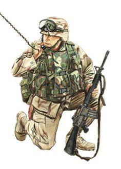 Teniente, US Marine Corps, Irak, 2003.