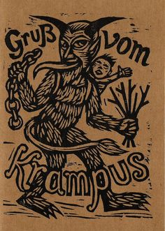 Krampus card by Horse & Hare - BELOW