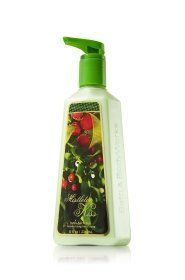 Bath and Body Works Mistletoe Kiss Moisturizing Hand Soap 8 Fl Oz by Mistletoe Kiss Moisturizing Hand Soap. Save 5 Off!. $5.25. Moisturizing hand soap is enriched with an exclusive blend of moisturizing honey, coconut milk and olive fruit extracts to help nourish and soften skin. It is further enhanced with Silk Protein for intense hydration, leaving hands lightly scented and feeling moisturized and looking younger, while effectively fighting germs.