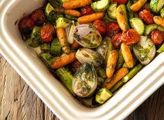 Receita Dedo de Moça: Legumes com azeites de ervas