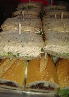 Crave Catering Sandwich Platter...labeled, healthy and yummy!