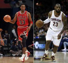 Scottie Pippen and LeBron James