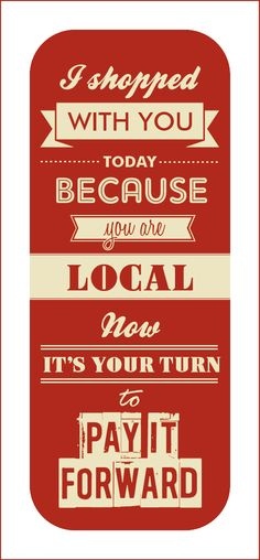 Shop Local Acadiana - Promo Card
