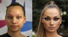 Strippers without and with their makeup - Imgur