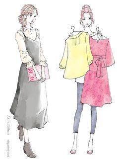 Akira Ebihara Illustration Gallery - SugarToy -   女性誌カット Akira, Artworks, Peplum, Illustrations, Tops, Women, Fashion, Moda, Fashion Styles