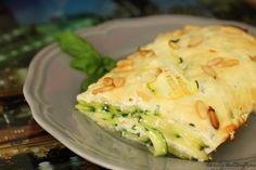Zucchini-Quark-Lasagne mit Pinienkernen