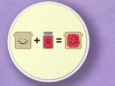Toast plus Jam equals. Cross Stitch PDF Patterns by andwabisabi | Etsy
