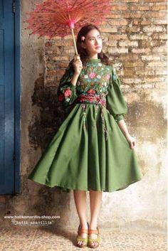 batik amarillis's ildiko dress-PO