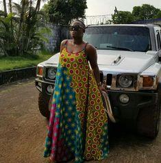 Maxi Ankara dress African Attire, African Wear, African Fashion Dresses, African Dress, Fashion Outfits, Womens Fashion, African Patterns, Africa Style, Woman Dresses