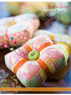I made myself one of these precious pincushions & I love it so much!  It adds such a fun touch of charm to my sewing table :)