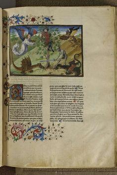 St. Augustine, De civitate dei in the French translation of Raoul de Presles, c. 14th century, Ms. 0523, f. 54, Strasbourg, Bibliothèque nationale et universitaire.