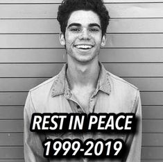 Rip Love, Booboo Stewart, Hes Gone, Always Remember You, Cameron Boyce, Disney Xd, Disney Descendants, July 6th, Now And Forever