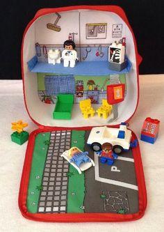 LEGO Duplo #3617 Explore On the Move Hospital EMS Carry Playset Bag w 3 Figures  #LEGO