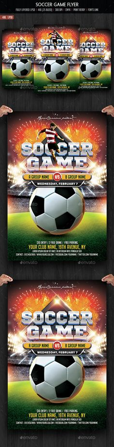 sports flyer template sport Pinterest Flyers, American - soccer flyer template