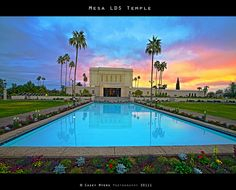 Mesa Arizona LDS temple. Sealed to my Eternal Companion Kelly 7/2/2005.  This is an amazing photo!