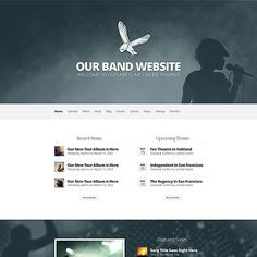 Harmony - One page, parallax, band website - http://elegantthemes.com/preview/Harmony/