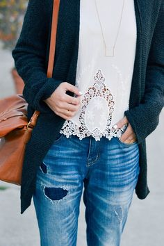 #BestFitEver Nothing like denim paired with fall knits.