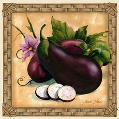 Decorative fruit art, vegetable art, kitchen art by noted painter Janet Stever, represented for licensing exclusively by Porterfield's Fine Art Licensing.
