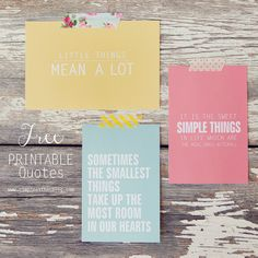 sometimes the smallest things take up the most rooms in our hearts /// so true! Love these free printables for #SimpleThingsSunday