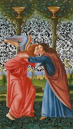Belle Constantinne - 2 de coupes - Tarot d'or Botticelli par Atanas Alessandro Atanassov