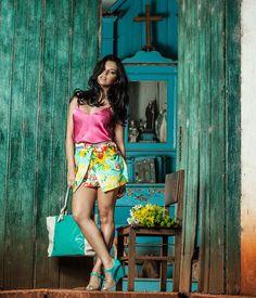 Estampas tropicais ♥ Você usaria? #fashion #style www.pipocacomsalto.com.br
