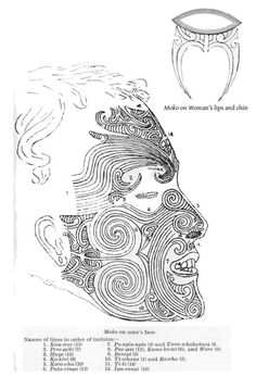 Many cultures feature facial and other tattoos as rites of passage. This is a Maori Moko. Maori Tattoos, Maori Face Tattoo, Tattoos Bein, Ta Moko Tattoo, Native Tattoos, Samoan Tribal Tattoos, Marquesan Tattoos, Borneo Tattoos, Thai Tattoo