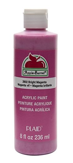 Apple Barrel Acrylic Paint in Assorted Colors (8 Ounce), K2602 Bright Magenta