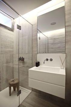 Brownish bathroom idea