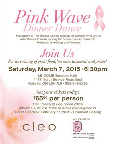 We can't wait for the annual Pink Wave Dinner Dance hosted by the amazing ladies at @cleofashion!! #pinkwave #fundraiser #breastcancer