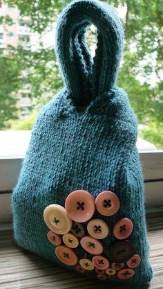 #Knitting pattern for Japanese Knot Bag : tricot ici mais adaptable en crochet, ou même tissu...