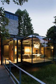 Glass House Surrounded by Nature - My Modern Metropolis
