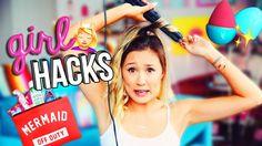 10 GIRL SURVIVAL HACKS & DIYS - YouTube