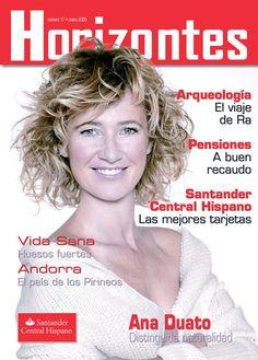 Portada Revista Horizontes.  Santander Central Hispanpano