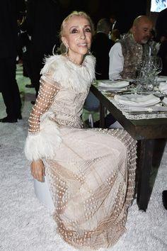 Editor-In-Chief of Vogue Italia, Franca Sozzani, attends the Gala event during the Vogue Fashion Dubai Experience 2015 at Armani Hotel Dubai on October 30, 2015 in Dubai, United Arab Emirates.