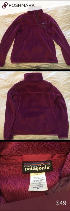 Fushia Patagonia Snap T fleece Classic Patagonia style - pullover snap-t fleece. Very soft and cozy with a kangaroo pocket. Like new! Patagonia Jackets & Coats