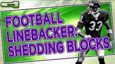 Youth football linebacker drills: shedding blocks