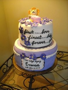 ADPi Baby from CakeCentral.com, perfect for a legacy    first...love  finest... baby  forever... yours