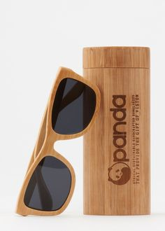 Panda Bamboo Wayfarer Sunglasses   Sustainable bamboo sunglasses are a fresh take on the classic wayfarer silhouette   www.rodales.com
