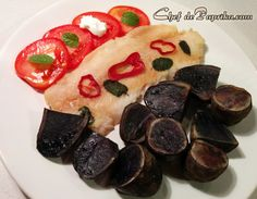 Baked Purple Potatoes and Fish