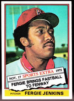 BOSTON RED SOX 1976 TOPPS TRADED FERGIE JENKINS NMMT CONDITION  #BostonRedSox