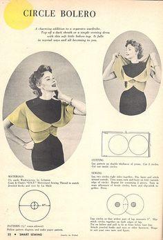 Circle Bolero pattern