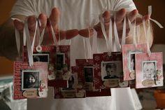 Photo ornaments using acrylic frames